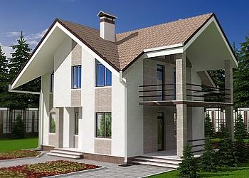 Проект экстерьера фасада дома в