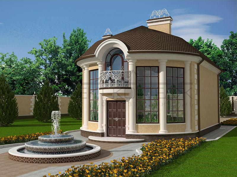 фото и проекты полукруглых домов можно ознакомиться как